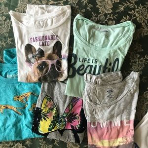 Girls T shirt lot (15 tops!) size Large